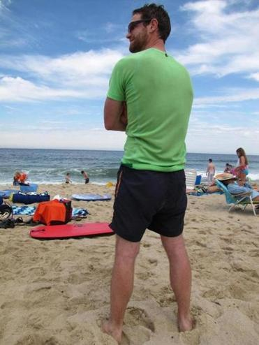 On the beach at Newcomb Hollow in Wellfleet, there was no shortage of shorts.
